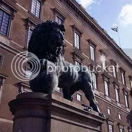 Lion by Royal Castle, Stockholm Sweden