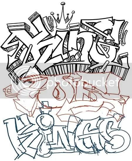 Graffiti King Crown Drawing - On Log Wall