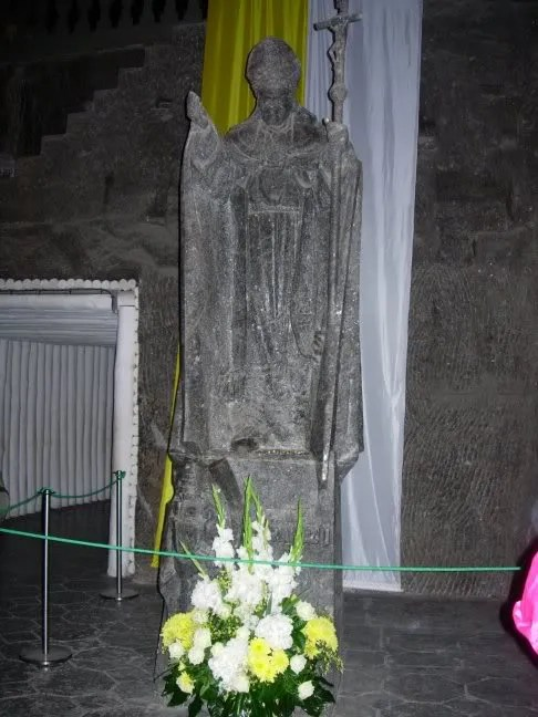 Salt carving in chapel of Salt Mines-2009