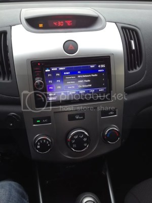 Swapped stock radio out for double din  Kia Forte Forum : Sedan  Koup  Forte5 Forums