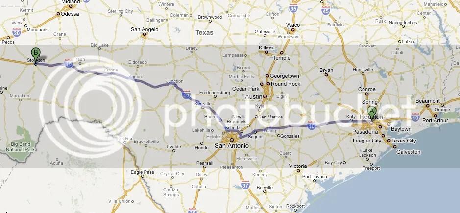 Houston to Fort Stockton