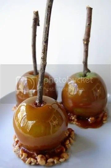 Ta-da! Vegan caramel apples!