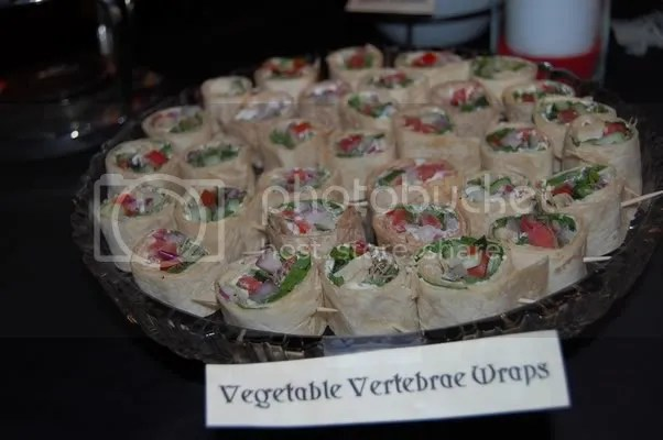 Vegetable Vertabrae Wraps