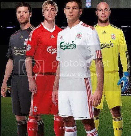 f7898a526 The release of Liverpool s 09 10European kit follows the release of the new away  kit. The club will wear the same Adidas home kit for the 09 10 season as ...