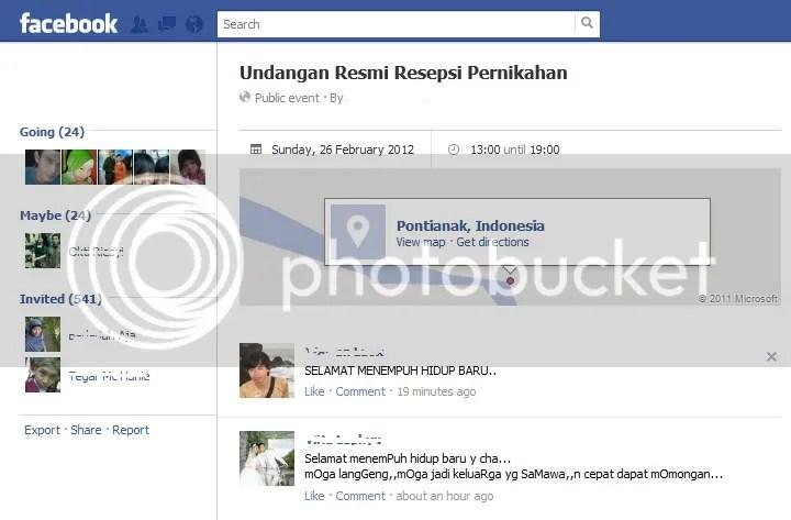 Undangan via FB..