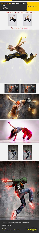 Light Streaks Photoshop Action
