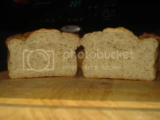 Small loaf, sliced open