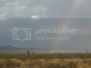 Rainbow over the desert north of the Carefree Hwy