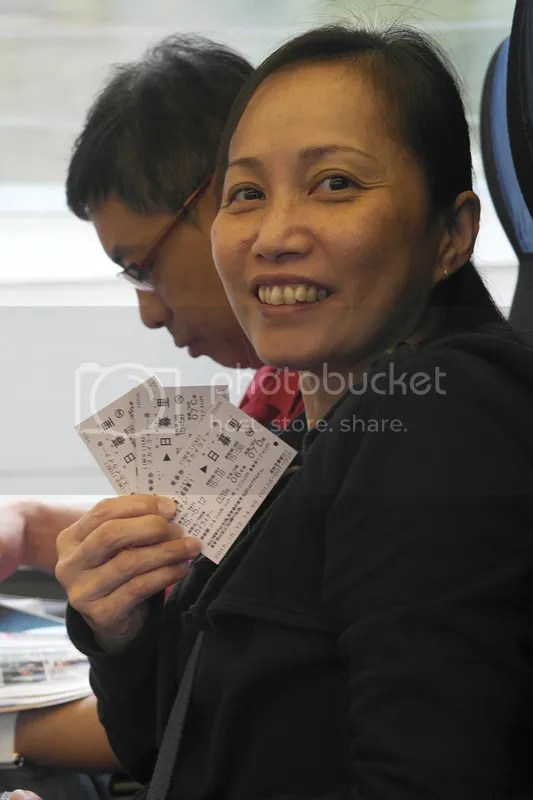 Mum with tickets