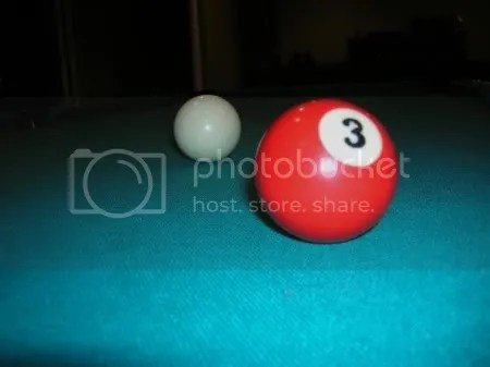 My pool table seems to be the perfect source for color and number words.  So, heres my 3 Ball, which is red.