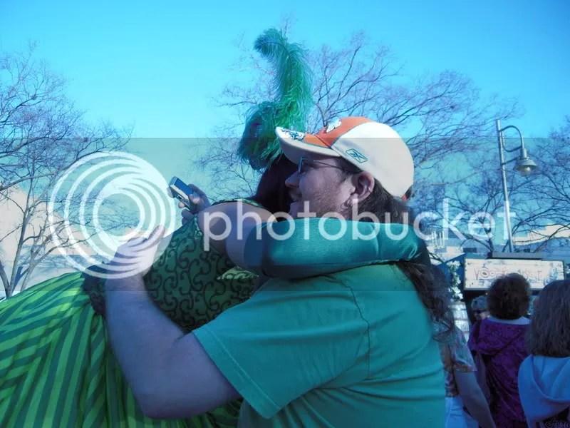 She gave me a hug...awww
