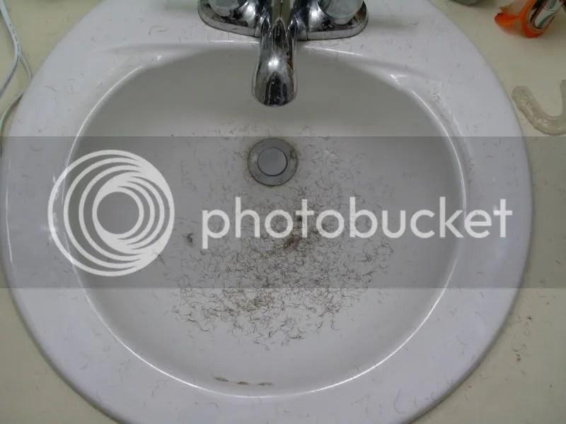 Poor beard...you made a mess!