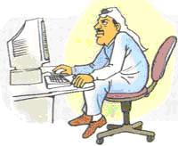 الجلوس الخاطئ على الكمبيوتر