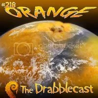 "The cover for the drabblecast of ""Orange"""