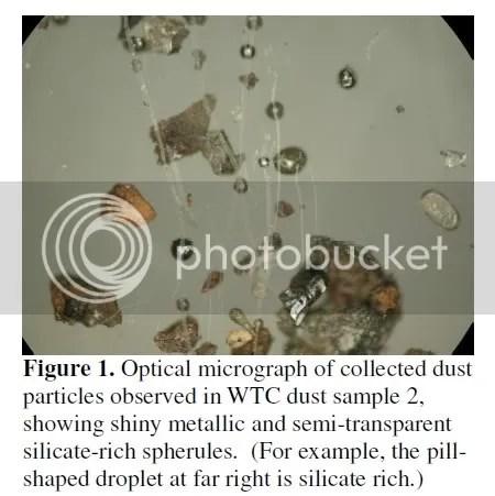 molten spheres in WTC dust