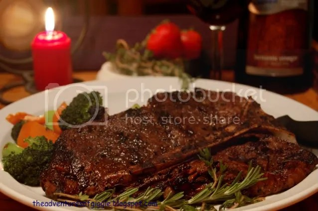 Balsamic Garlic Herb T Bone Steak Pictures, Images and Photos