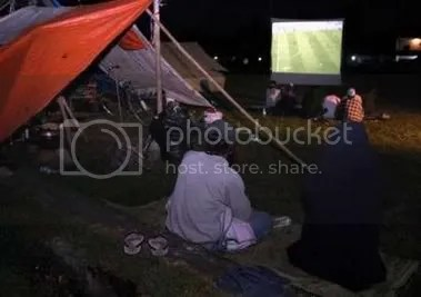 Indonesian earthquake victims watch Germany play Costa Rica