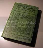 Highroads Dictionary, my bedtime reading companion
