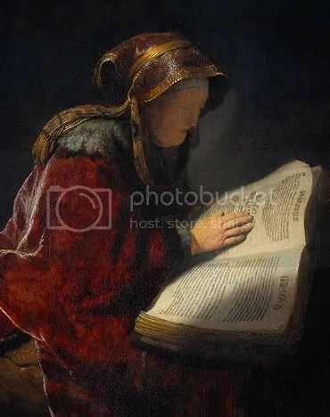 Rembrandt: The Prophetess Anna (detail)