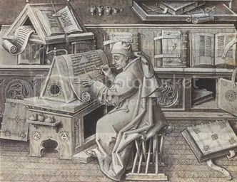 A scribe respecting his spine