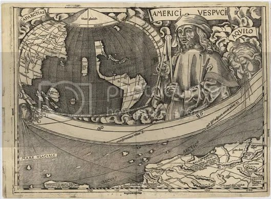 Waldseemüller World Map 1507 (part)