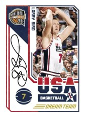 09/10 Panini Hall of Fame Larry Bird USA Autograph