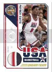 09/10 Panini Hall of Fame Patrick Ewing Team USA Jersey