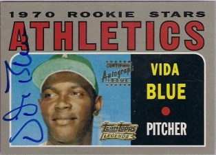 2001 Team Topps Vida Blue Autograph Card