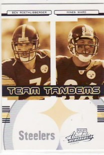2006 Playoff Absolute Memorabilia Team Tadems Roethlisberger Ward /250