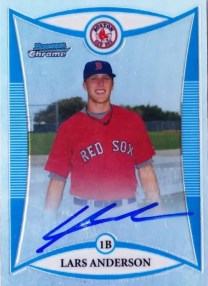 2008 Bowman Chrome Lars Anderson Auto RC