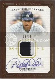 Derek Jeter Jersey Autograph Cards