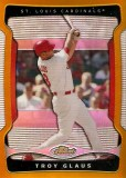 2009 Topps Finest Troy Glaus Gold Refractor