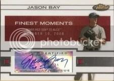 2009 Topps Finest Jason Bay Finest Moments Autograph