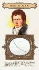 2010 Topps Allen & Ginter Beethoven DNA Relic