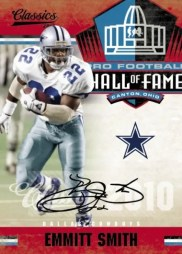 2010 Panini Classics Emmitt Smith Super Bowl Auto