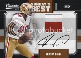 2010 Panini Classics Vernon Davis Sundays Best Jersey