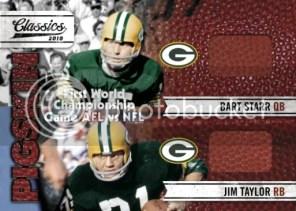 2010 Panini Classics Super Bowl Dual Pigskin Packers