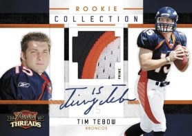 2010 Panini Threads Rookie Collection Tim Tebow Auto Jersey