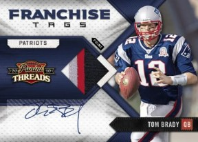 2010 Panini Threads Tom Brady Francise Tags Auto