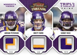 2010 Panini Threads Minnesota Viking Triple Threats Jersey