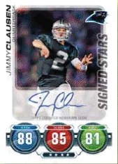 2010 Topps Attax Jimmy Clausen Autograph RC