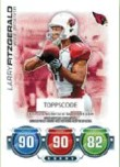 2010 Topps Attax Larry Fitzgerald Code Card