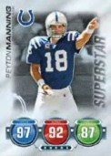 2010 Topps Attax Peyton Manning Superstar Card
