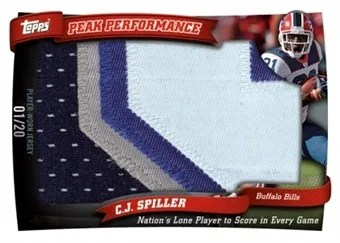2010 Topps Football Peak Performance CJ Spiller Jumbo Patch
