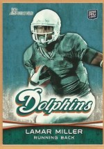 2012 Bowman Lamar Miller Base Variation