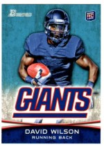 2012 Bowman David Wilson Base RC Card