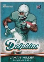 2012 Bowman Lamar Miller Base RC