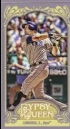 2012 Topps Gypsy Queen Evan Longoria Mini Variation