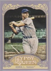 2012 Topps Gypsy Queen Lou Gehrig Sp Photo Variation
