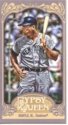 2012 Topps Gypsy Queen Mickey Mantle Mini Sp Card